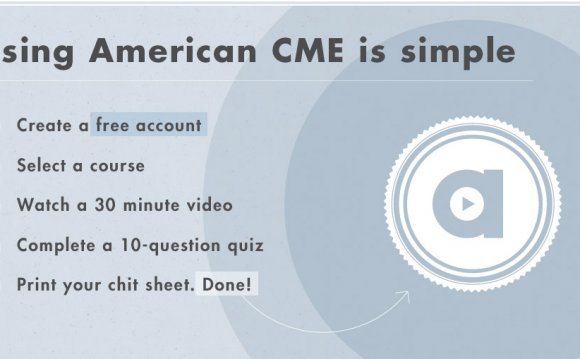 CME Resources Continuing Medical Education
