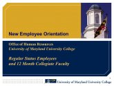 Human Resources University of Maryland Medical Center