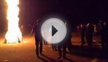 bonfire in allama iqbal medical college, lahore pakistan