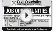 Fauji-Foundation-Rawalpindi,-Lahore,-Karachi-Jobs,15 June 2014